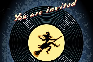 Halloween Play Party Invitation
