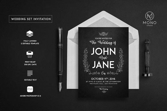 Wedding Set Invitation