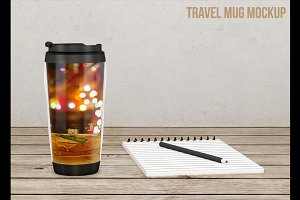 Travel coffee mug mockup v1