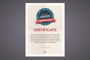 Best choice certificate template
