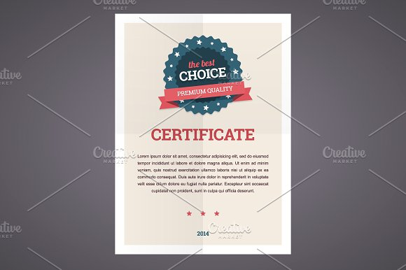 Certificate Templates To Design Stunning Awards Creative Market - Awesome word 2013 certificate template design