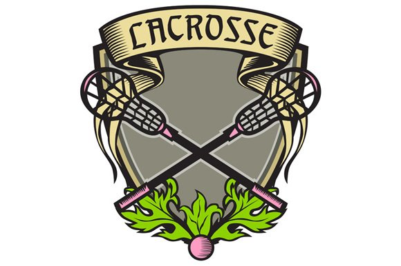Crossed Lacrosse Stick Coat Of Arms