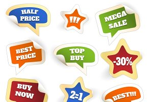 Colorful Discount Sale Tags