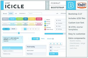 Icicle- Fresh Bootstrap 3 UI Kit