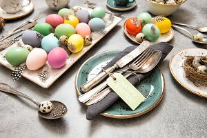Easter still life. Festive table