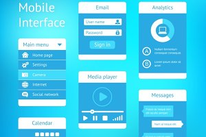 vector interface template design