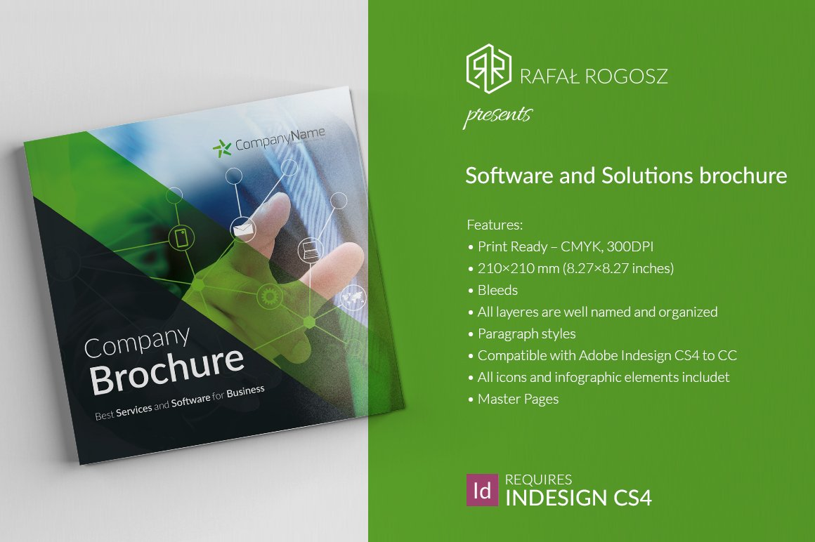 Software And Solutions Brochure Creative Illustrator Templates Creative Market
