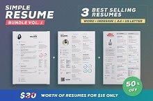 Simple Resume - Bundle Edition