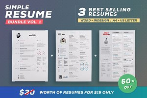 Simple Resume - Bundle Edition