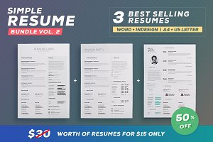 Simple Resume/Cv - Bundle Volume 2