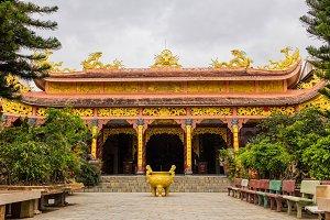 Van Hanh pagoda near Big Golden Sitting Buddha in Dalat, Vietnam