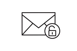 Email security icon. Vector