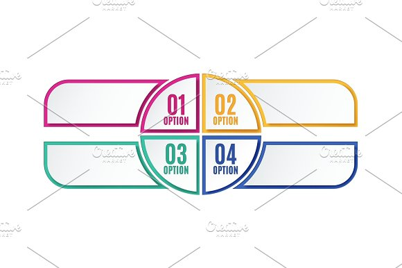 Colorful Infographics Options Four Steps