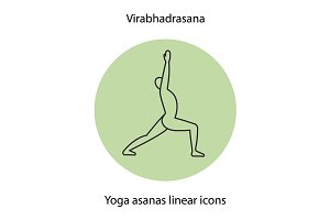 Yoga position icon. Vector