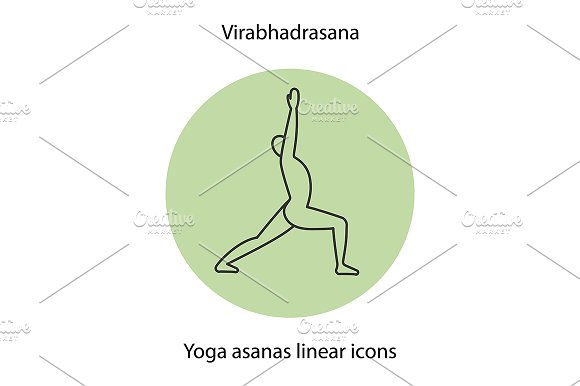 Yoga Position Icon Vector