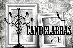 Candelabras set