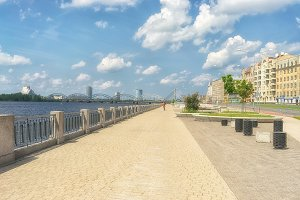 The embankment in Riga