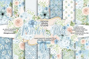 Watercolor Powder Blue DP pack