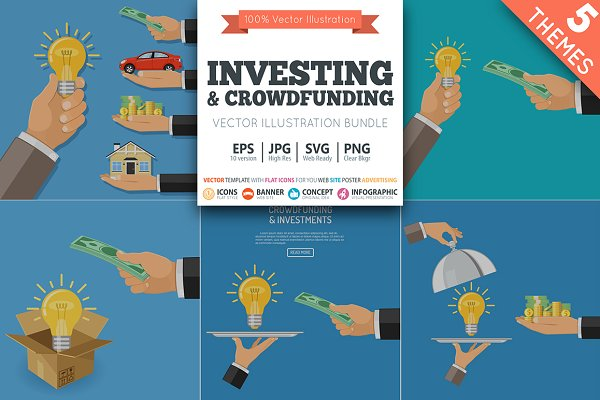 Crowdfunding and Investing concept