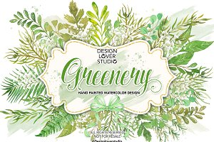 Watercolor Greenery design