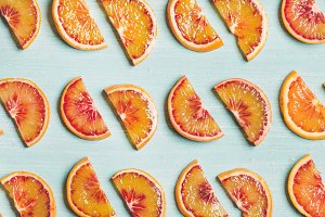 Fresh juicy blood orange slices