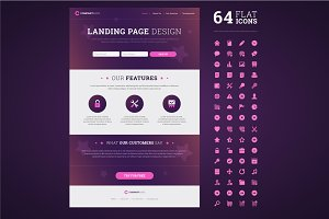 One page design landing page