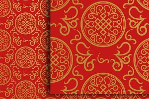 Chinese red wallpaper