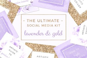 Lavender Gold Social Media Templates