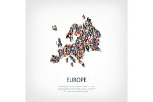 people map country Europe vector