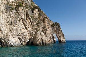 Rocks of the island of Zakynthos