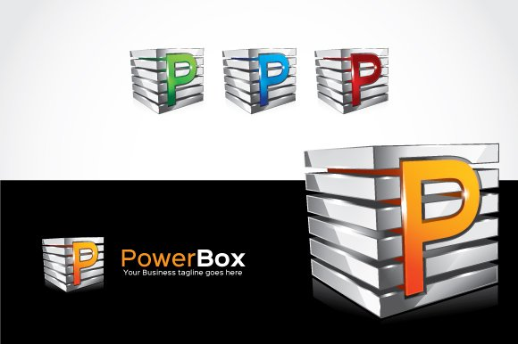 Power Box Logo Template in Logo Templates - product preview 2