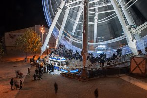 Ferris wheel in zaragoza pillar for