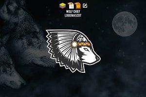 Wolf Chief Logo Mascot
