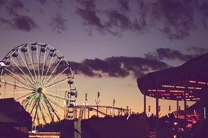 Carnival/Fair/Amusement Park Sunset