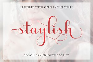 Staylish Script Upright