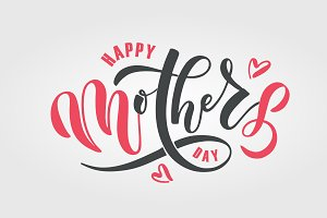 Happy Mothers Day Lettering Template