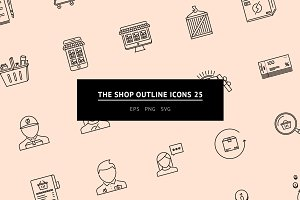 The Shop Outline Icons 25