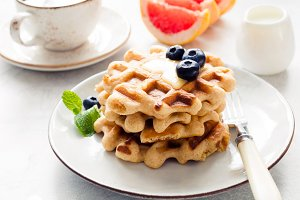 Morning glory waffles