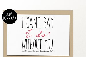 I can't say I do wedding card