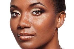 Elegant young black woman