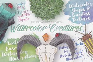 Watercolor Creatures vol. 1