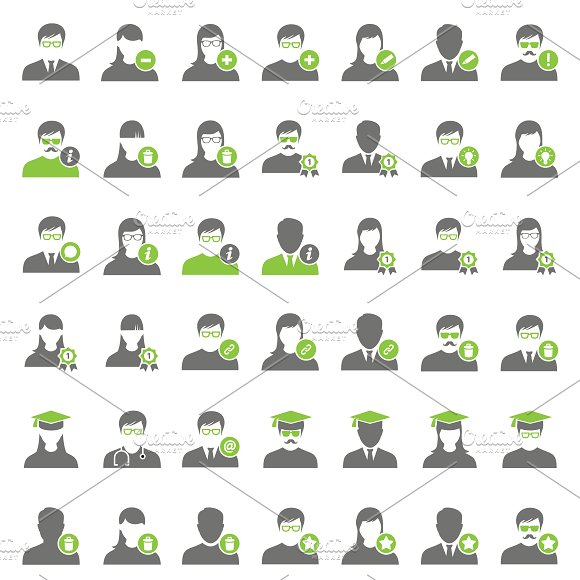 42 Green User Icons