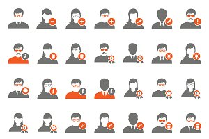 42 Orange user icons