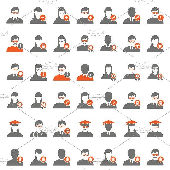 42 Orange User Icons