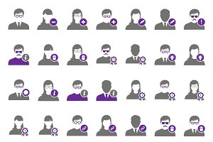 42 Purple user icons