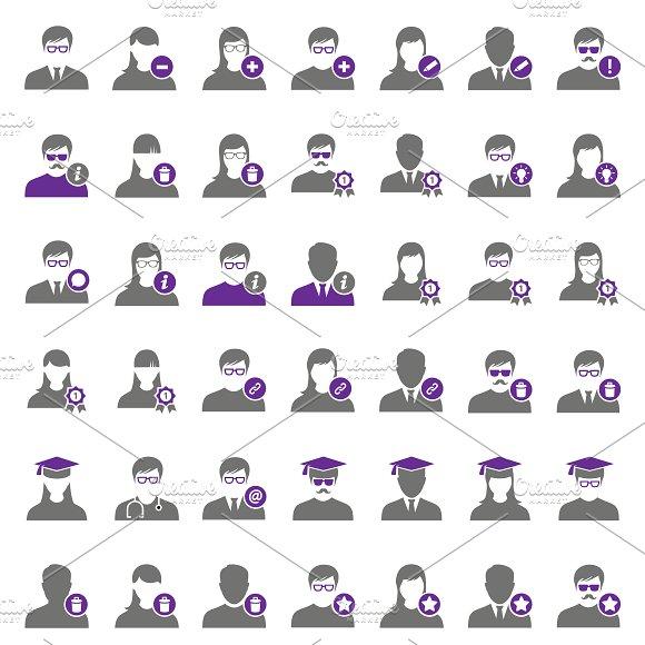 42 Purple User Icons