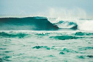 Surfer in a barrel