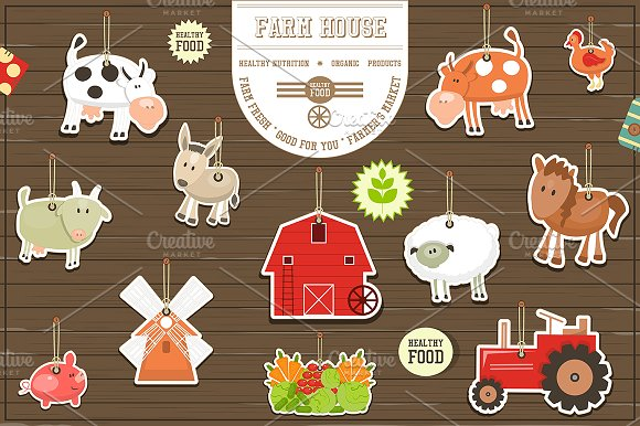 Farm Stickers Collection