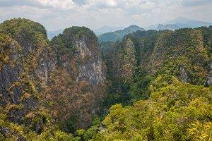 Limestone hills in Krabi, Thailand