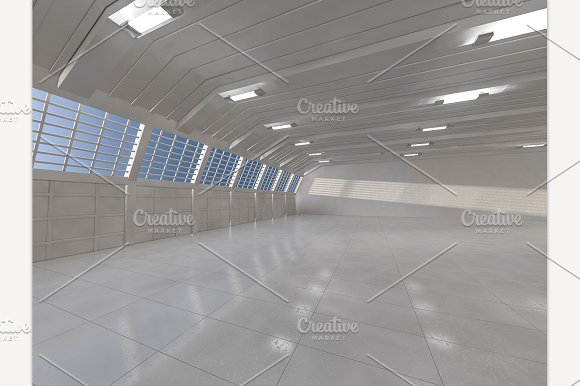 Warehouse Background 3D Rendering